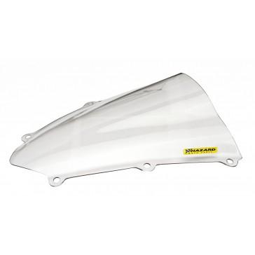 PARABREZZA - HONDA CBR 600 RR, 2007-2008, plexiglass, trasparente, doppia bolla / bolla alta