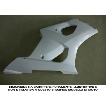 FIANCATA LATERALE (quando intere) - SUZUKI GSX-R 1000, 2009-2013, ABS, non verniciate, iniezione