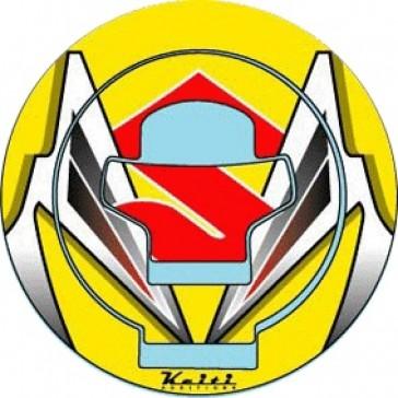 ADESIVI PROTEZIONE TAPPO CARBURANTE - SUZUKI GSX-R 600 / 750, 2001-2003, acrilico, resinato
