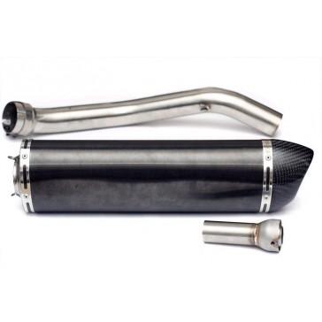 SILENZIATORE - TRIUMPH TIGER 1050, 2006 =>, titanio, CARBON CAP, ovale, omologato
