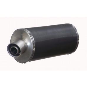 SILENZIATORE - HONDA CBR 600 RR, 2007-2008, inox nero, CLASSIC, ovale, omologato