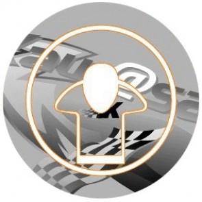ADESIVI PROTEZIONE TAPPO CARBURANTE - KAWASAKI ZX 6 R 600, 2009-2012, acrilico, resinato