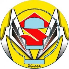 ADESIVI PROTEZIONE TAPPO CARBURANTE - SUZUKI GSX-R 1000, 2001-2002, acrilico, resinato